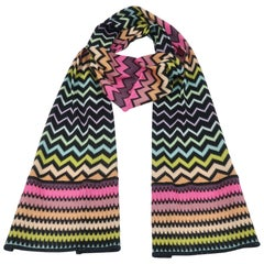 Missoni Flame Stitch Knit Scarf