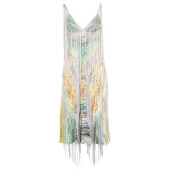 Missoni Fringe & Crochet Knit Dress