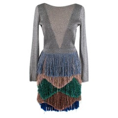 Missoni Fringed Metallic Knitted Mini Dress - Us size 4