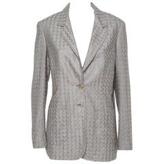Missoni Gold & Grey Lurex Knit Blazer L