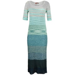 Missoni Green Short Sleeve Knit Dress sz 48