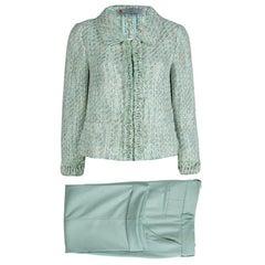 Missoni Green Textured Weave Pant Suit M