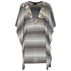Missoni Hand-Embroidered Chevron Crochet Knit Dress Kaftan Tunic Cover Up
