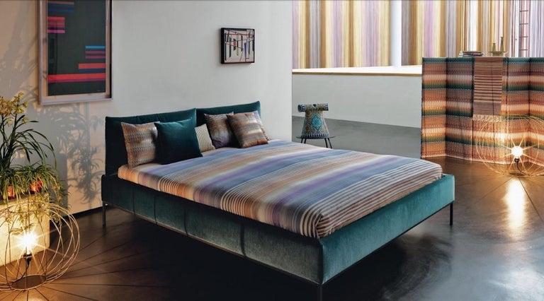 Italian Missoni Home Seattle Cushion in Multi-Color Chevron Pattern For Sale