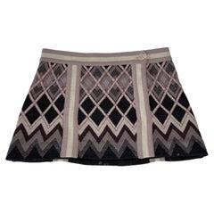 Missoni Knit Lavender Micro Skirt (Size 38)