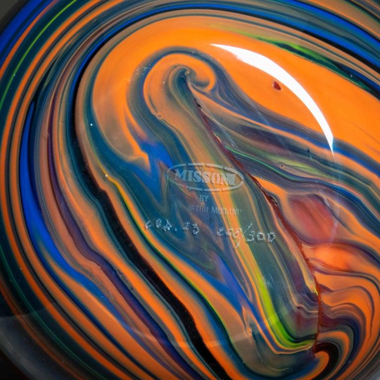 Modern Missoni Large Arte Vetro Murano Polychromatic Marble Italian Vase, 1980 For Sale