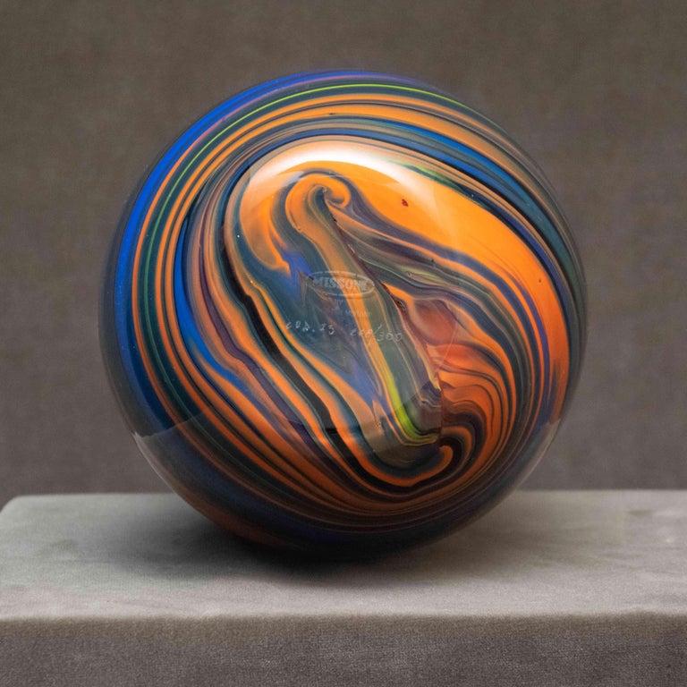 Missoni Large Arte Vetro Murano Polychromatic Marble Italian Vase, 1980 In Excellent Condition For Sale In Paris, FR