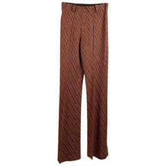 Missoni Light Brown Knit Wool Blend Flared Pants Troousers
