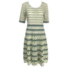 Missoni Lime, White & Black Honeycomb Stretch Knit Dress