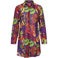 "Missoni ""Mare"" 1980s Cotton Multicoloured Tunic With Novelty Shell Print"