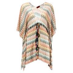 Missoni Mare Metallic Crochet Knit Kaftan MEDIUM