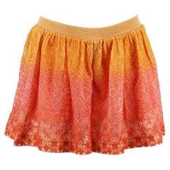 Missoni Mare Metallic Crochet Knit Shorts SMALL