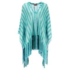 Missoni Mare Metallic Fringed Crochet Knit Kaftan XSMALL