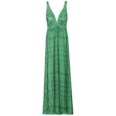 Missoni Mare Pleated Metallic Knit Maxi Dress