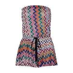 Missoni Metallic Crochet Knit Bandeau Jumpsuit Playsuit Romper