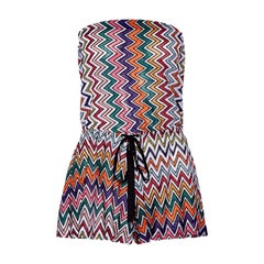 Missoni Metallic Crochet Knit Bandeau Jumpsuit Playsuit Romper