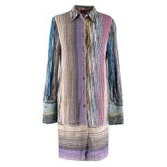 Missoni metallic knit button down shirt dress - Size US 4