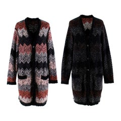Missoni Multi Colored Reversible Knit Cardigan