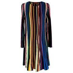 Missoni Multi-coloured Striped Knit Shift Dress - Size US 10