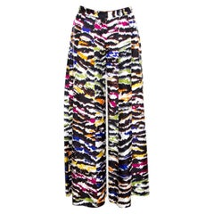 Missoni Multicolor Abstract Printed Silk Wide Leg Pants M