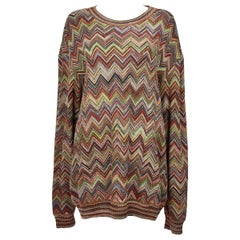 Missoni Multicolor Chevron Zigzag Sweater