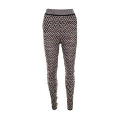 Missoni Multicolor Perforated Knit Elasticized Waist Pants M