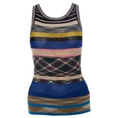 Missoni Multicolor Rib Knit Sleeveless Tank Top S