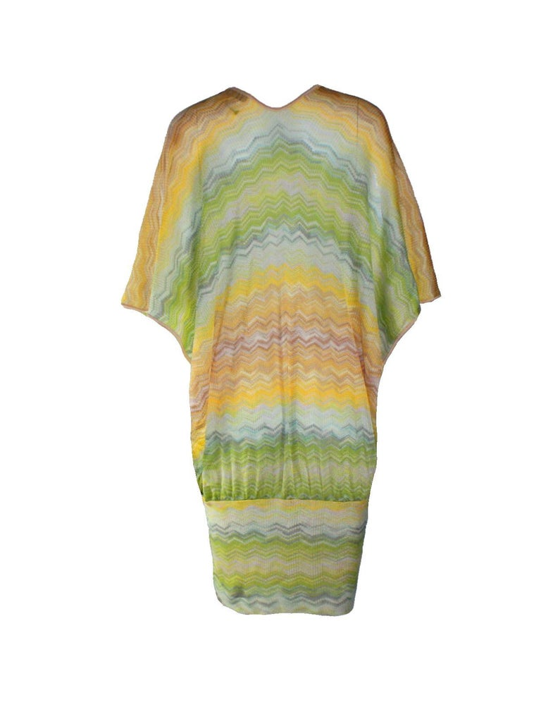 These sorbet shades are ideal for Riviera getaways, so update your jetset wardrobe with Missoni's pastel crochet-knit kaftan. Complement this glamorous style with a wide-brimmed straw hat, adding a hint of sparkle with metallic