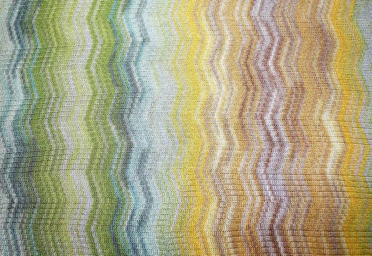 Brown Missoni Multicolor Signature Chevron Zigzag  Kaftan Tunic Cover Up Dress For Sale