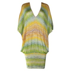 NEW Missoni Multicolor Signature Chevron Zigzag  Kaftan Tunic Cover Up Dress