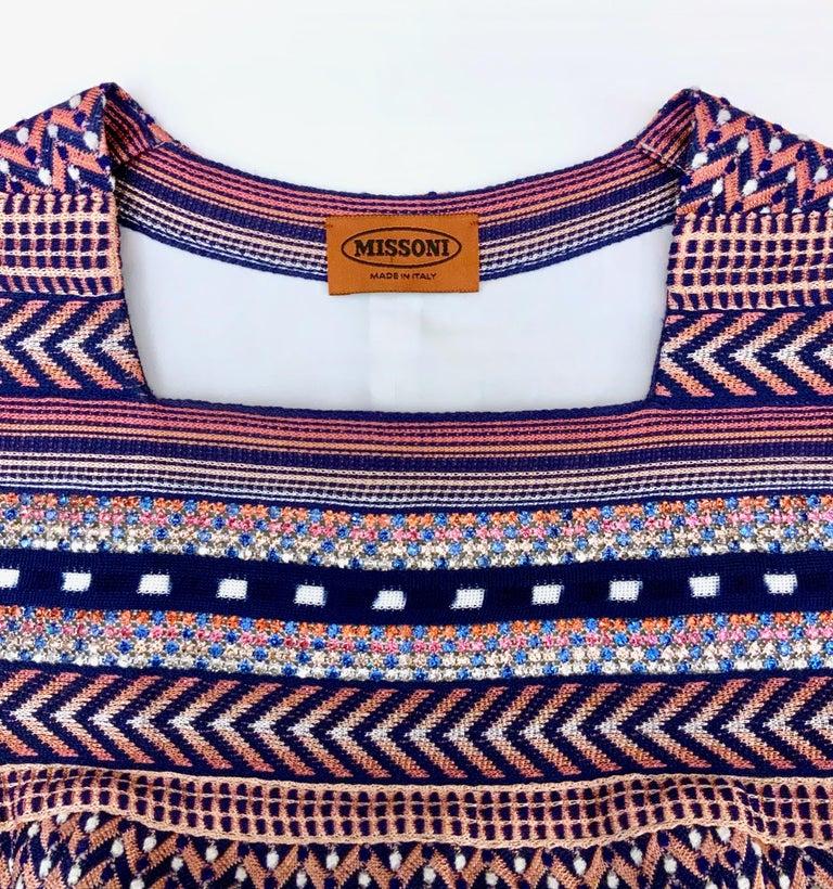 Gray Missoni Multicolor Striped Fabric Dress For Sale