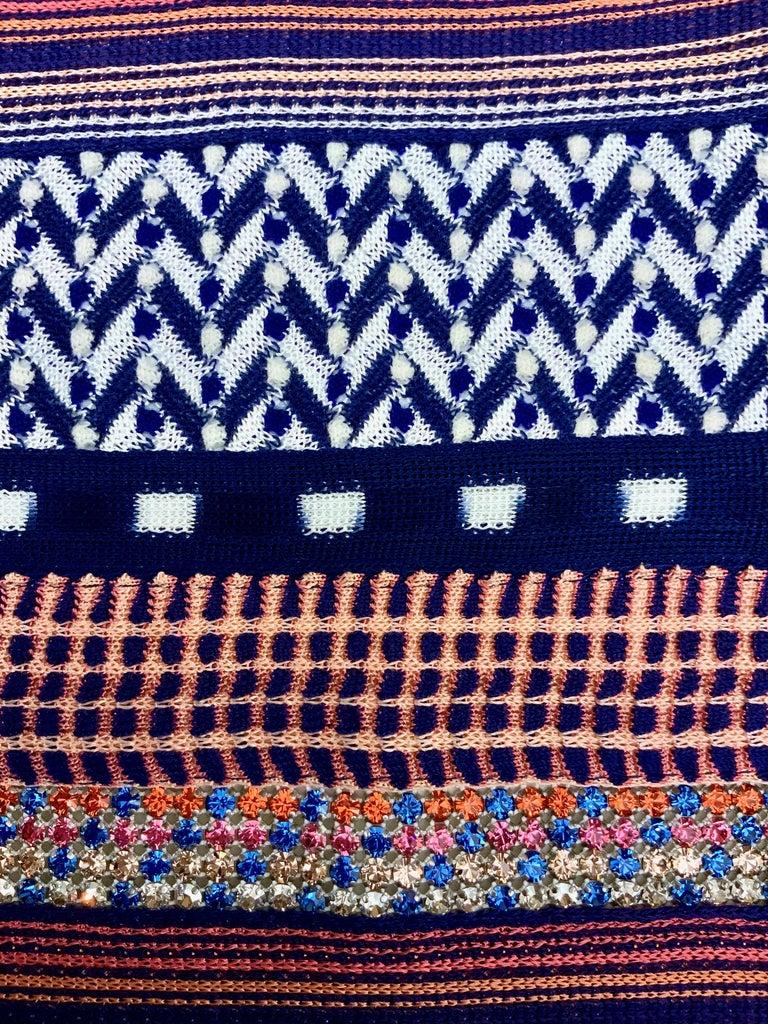 Women's Missoni Multicolor Striped Fabric Dress For Sale
