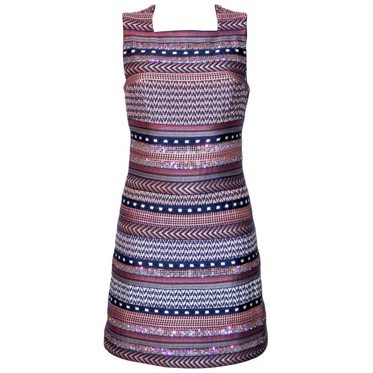 Missoni Multicolor Striped Fabric Dress For Sale