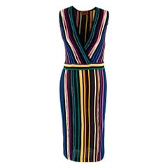 Missoni Multicolor Striped Knit Sleeveless Dress - Size Small