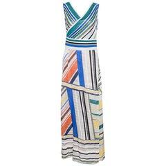 Missoni Multicolor Striped Knit Sleeveless Maxi Dress L