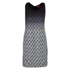 Missoni Multicolor Wool Cutout Racer Back Detail Sleeveless Dress M