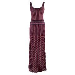Missoni Multicolored Knit Maxi Dress SIZE 10