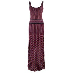 Missoni Multicolored Knit Maxi Dress Size US 6