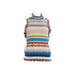 MISSONI multicolour Knit Halter Tank Top Sleeveless Shirt 38 XS
