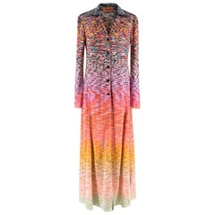 Missoni Multicoloured Knit Longline Cardigan M 44 IT