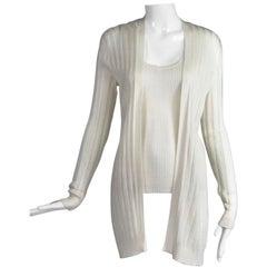 Missoni Off White Decorative Knit Sweater and Tank Twin Set
