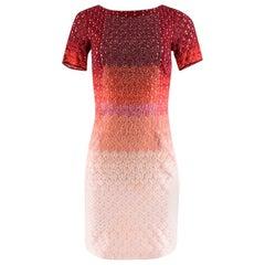 Missoni Ombre Beaded Glitter Red Dress XS