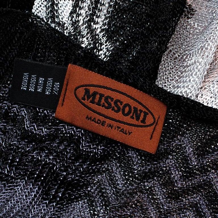 Women's Missoni Ombre Chevron Pattern Loose Knit Tassel Edged Scarf For Sale