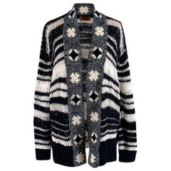 Missoni Open Knit Wool Blend Cardigan - Size US4