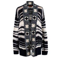 Missoni Open Knit Wool Blend Cardigan US4