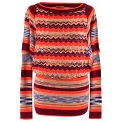 Missoni Orange Multi-Knit Longline Jumper S