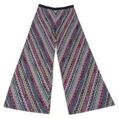 Missoni Pant Jewel Toned Colours Angled Knit SO Flattering 44