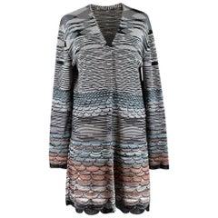 Missoni Patterned Knit Long Cardigan - Size US8