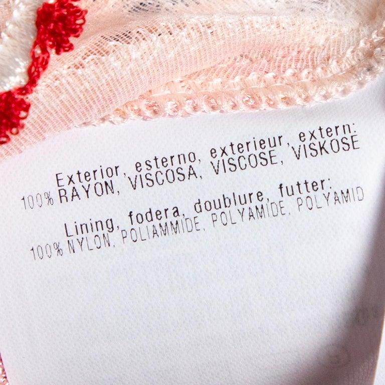 Women's Missoni Pink Patterned Knit Skater Dress L For Sale