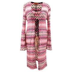 Missoni pink patterned/ sequin embellished top and cardigan set US 4
